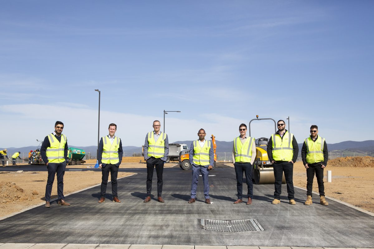 A team effort sees Ginninderry pave the way for recycled asphalt in Strathnairn.