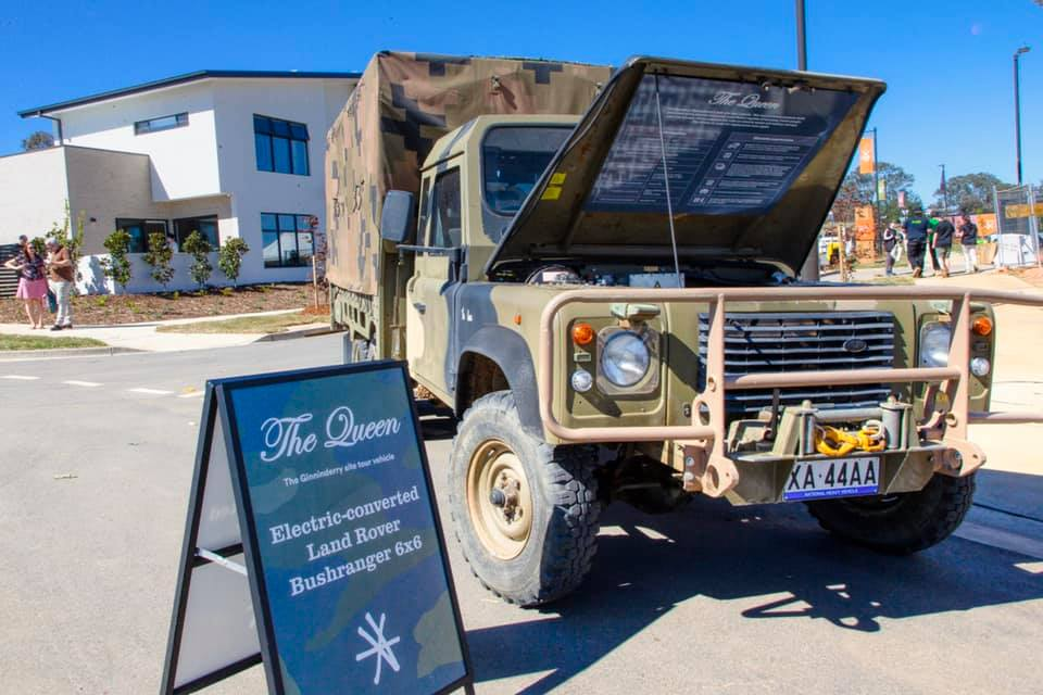 Ginninderry debuts world first electric-converted Land Rover